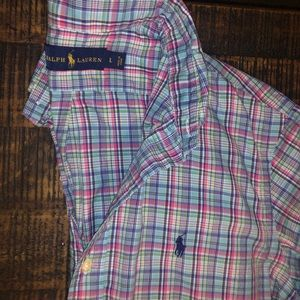 Men's Polo, Long Sleeve Button Down
